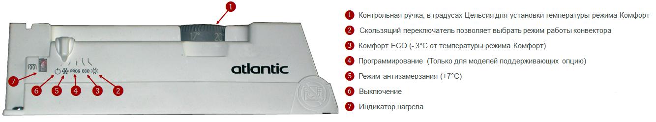 Электрический конвектор Atlantic F119 Design 500W
