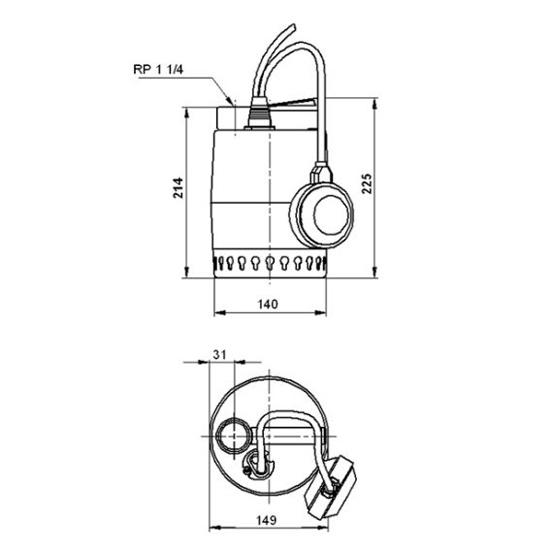 Дренажный насос Wilo Opti-Drain TMW 32/11