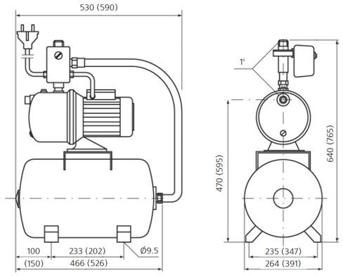 BaltGaz универсальный коаксиальный комплект для горизонтального прохода через стену d=60/100 мм, l=1000 мм