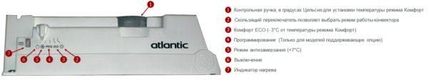 Электрический конвектор Atlantic F119 Design 1000W