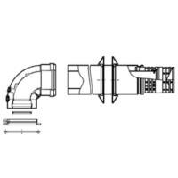 Baxi коаксиальный комплект для горизонтального прохода через стену 60/100 мм