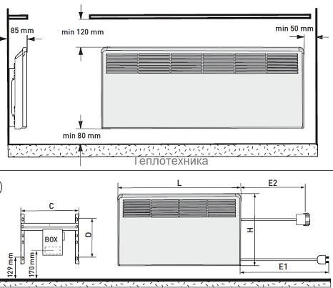 Электрический конвектор Ensto Beta IP 2 EPHBM15P