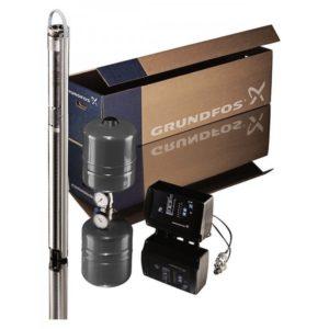 Комплект для поддержания постоянного давления со скважинным насосом Grundfos SQE 2-70